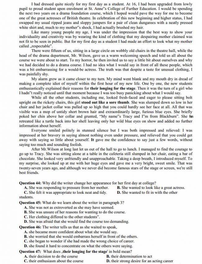 Đề thi thử môn Anh thptqg năm 2018 trường THPT chuyên Lương Thế Vinh - Đồng Nai trang 5