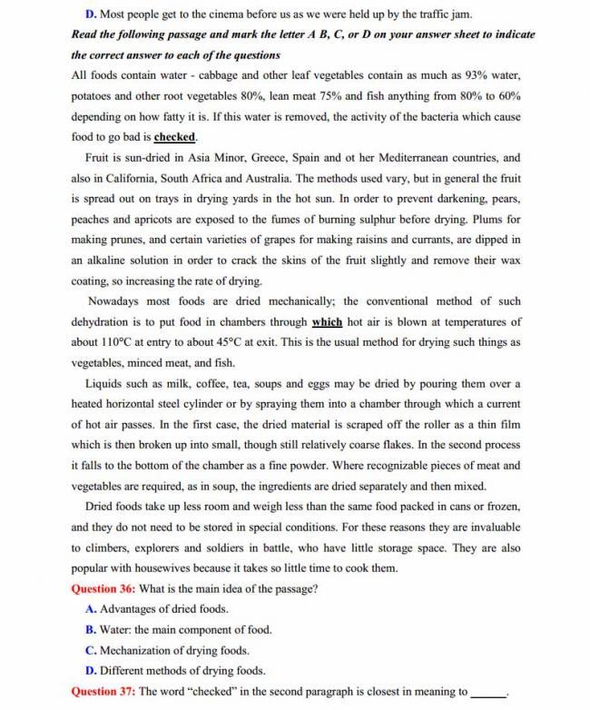 Đề thi thử môn Anh thptqg năm 2018 trường THPT chuyên Ngoại ngữ Hà Nội trang 5
