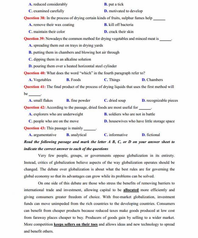 Đề thi thử môn Anh thptqg năm 2018 trường THPT chuyên Ngoại ngữ Hà Nội trang 6