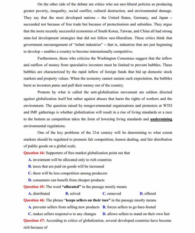 Đề thi thử môn Anh thptqg năm 2018 trường THPT chuyên Ngoại ngữ Hà Nội trang 7
