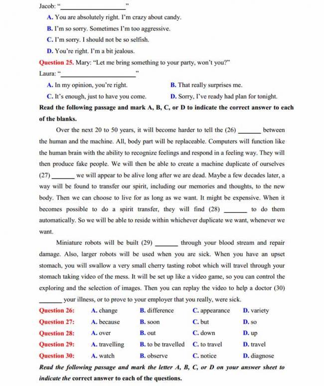 Đề thi thử môn Anh thptqg năm 2018 trường THPT chuyên Sơn La trang 3