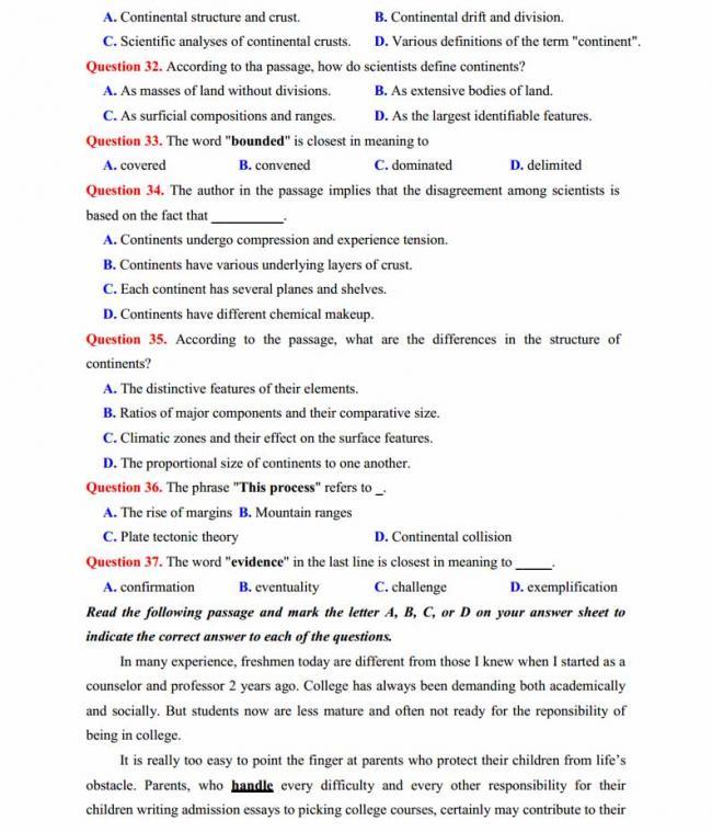 Đề thi thử môn Anh thptqg năm 2018 trường THPT chuyên Sơn La trang 5