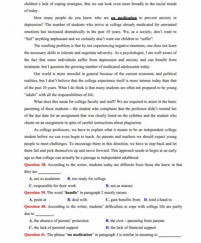 Đề thi thử môn Anh thptqg năm 2018 trường THPT chuyên Sơn La trang 6