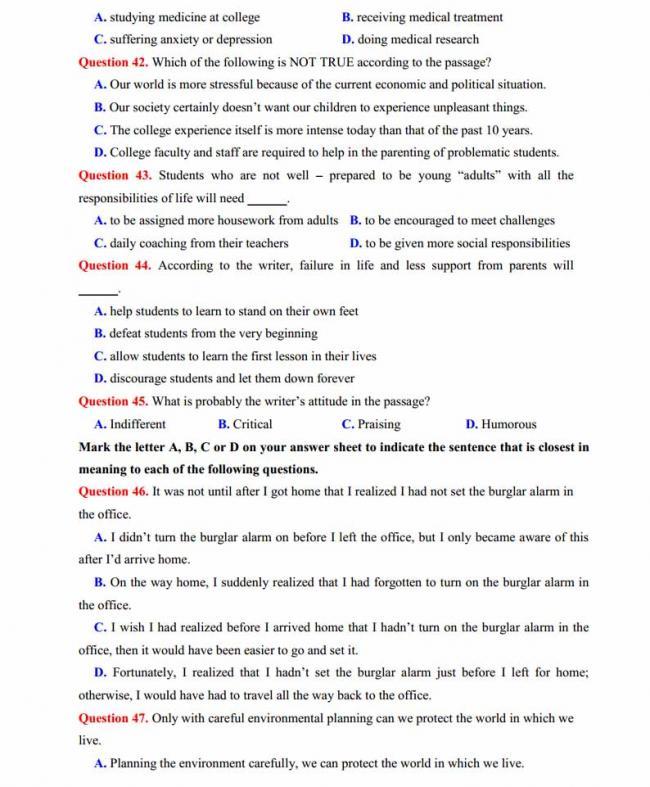 Đề thi thử môn Anh thptqg năm 2018 trường THPT chuyên Sơn La trang 7