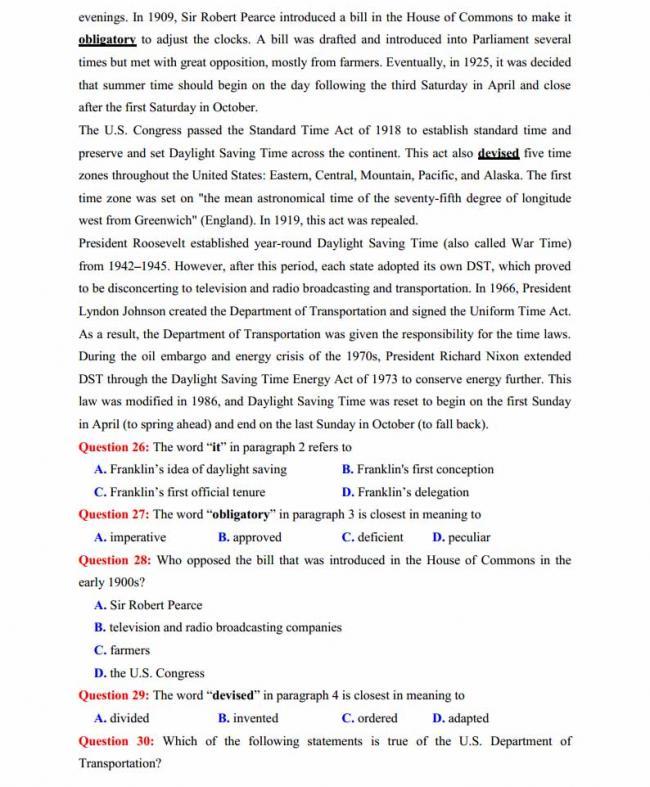 Đề thi thử môn Anh thptqg năm 2018 trường THPT chuyên Trần Phú Hải Phòng trang 4