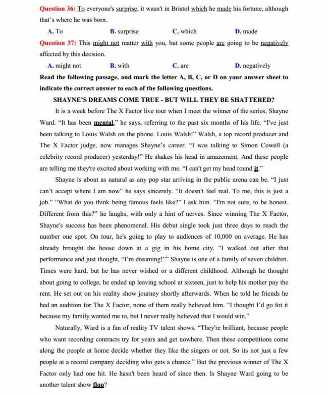 Đề thi thử môn Anh thptqg năm 2018 trường THPT chuyên Trần Phú Hải Phòng trang 6