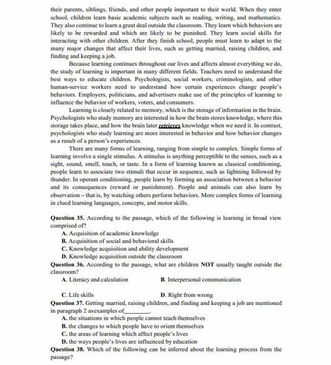 Đề thi thử môn Anh thptqg năm 2018 trường THPT Kinh Môn - Hải Dương trang 5
