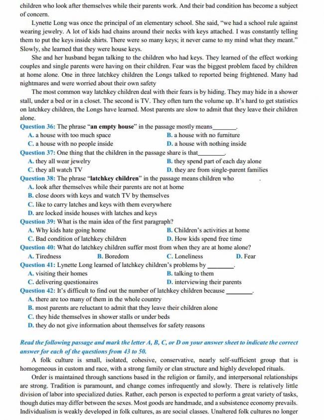 Đề thi thử môn Anh thptqg năm 2018 trường THPT Nguyễn Thị Minh Khai - Hà Tĩnh trang 4