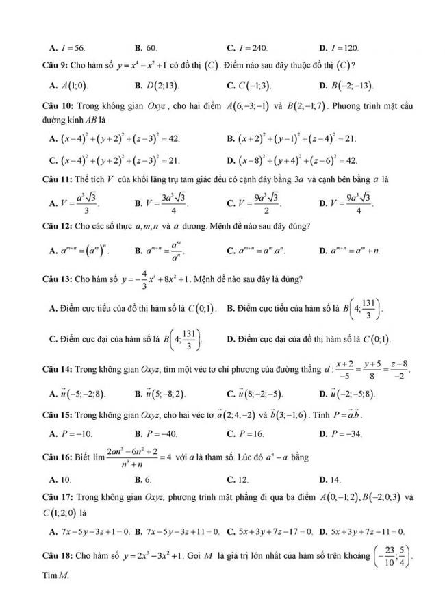 đề thi thử thpt môn toán Đà Nẵng 2018 trang 2