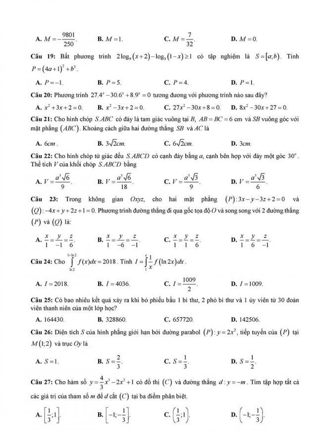 đề thi thử thpt môn toán Đà Nẵng 2018 trang 3