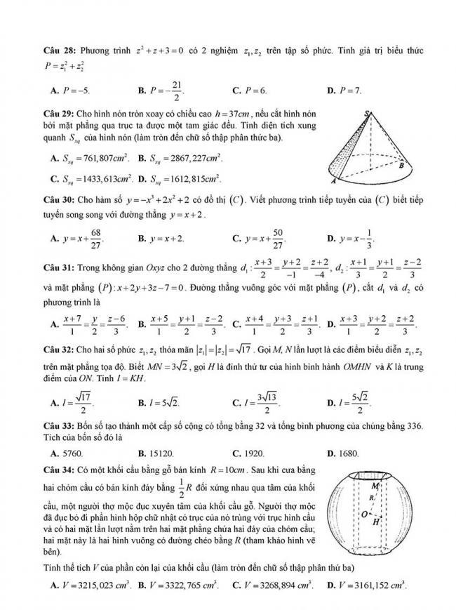 đề thi thử thpt môn toán Đà Nẵng 2018 trang 4