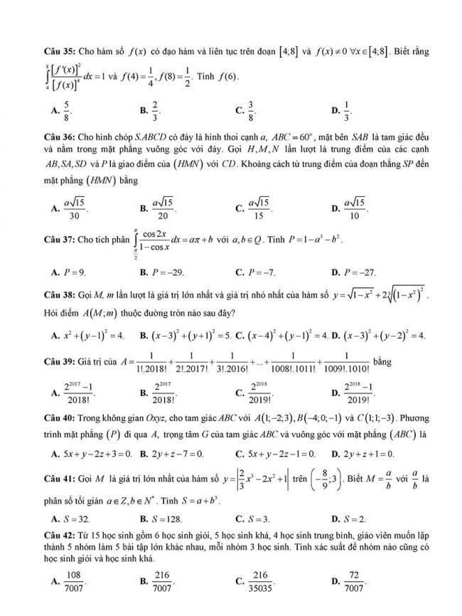 đề thi thử thpt môn toán Đà Nẵng 2018 trang 5