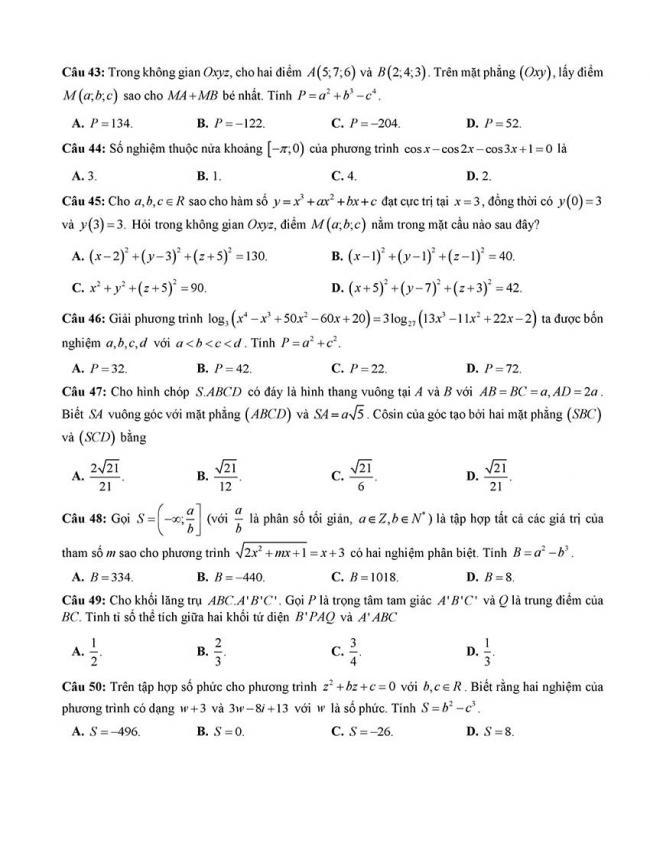 đề thi thử thpt môn toán Đà Nẵng 2018 trang 6