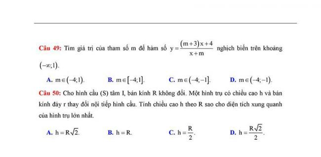 Đề thi thử môn Toán thptqg năm 2018 trường Yên Định 2 - Thanh Hóa lần 2 trang 8