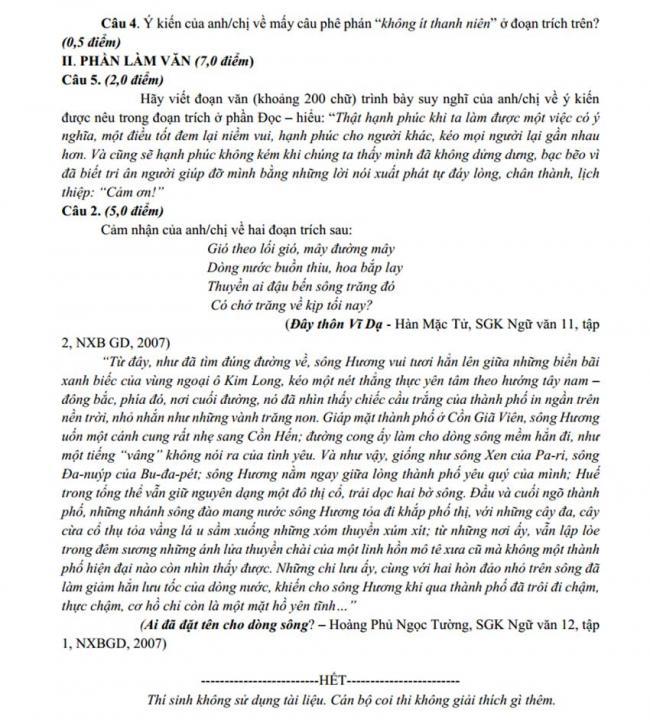 Đề thi thử môn Văn thptqg năm 2018 trường Yên Lạc – Vĩnh Phúc lần 3 trang 2