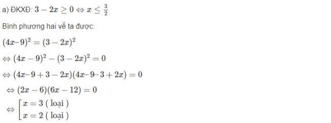 Cách làm bài 11 trang 72 sgk đại số lớp 10