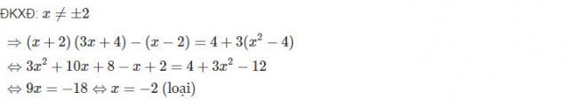 Cách giải bài 4 trang 70 sgk đại số lớp 10