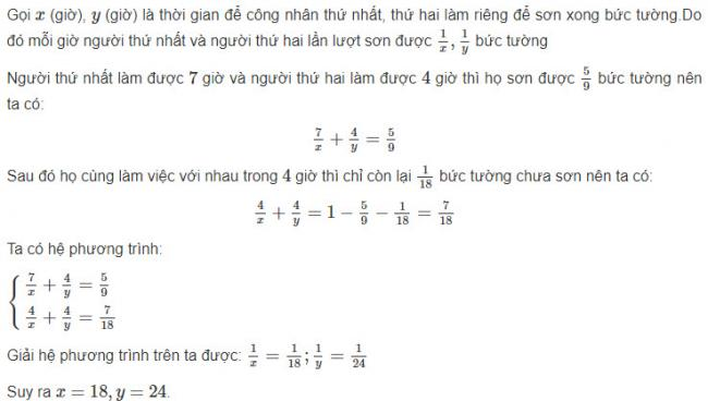 Giải toán đại Số lớp 10 Bài 6 trang 70 sgk