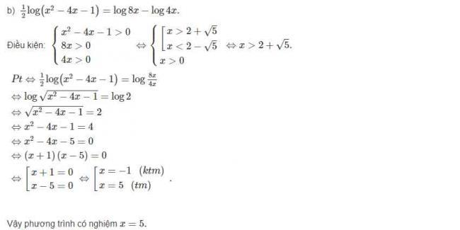 Đáp án câu b bài 4 trang 85 sgk giải tích lớp 12