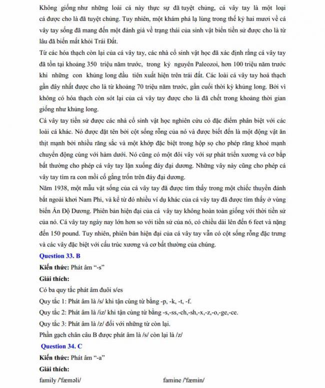Đáp án đề thi thử môn Anh thptqg năm 2018 trường THPT chuyên Chu Văn An Lạng Sơn trang 10