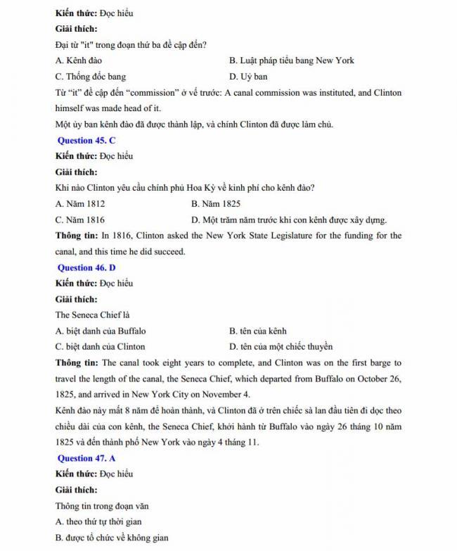 Đáp án đề thi thử môn Anh thptqg năm 2018 trường THPT chuyên Chu Văn An Lạng Sơn trang 13