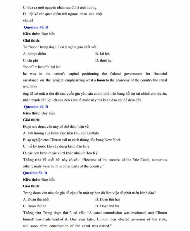Đáp án đề thi thử môn Anh thptqg năm 2018 trường THPT chuyên Chu Văn An Lạng Sơn trang 14
