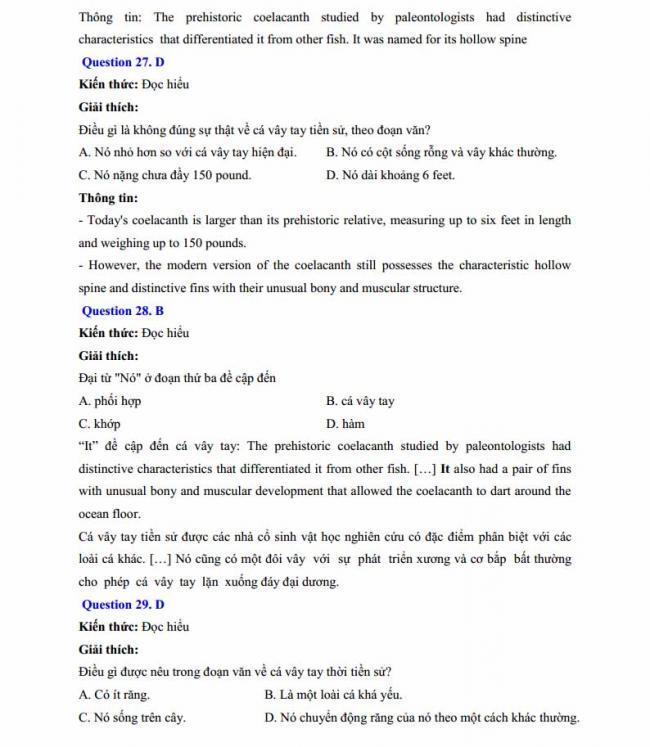 Đáp án đề thi thử môn Anh thptqg năm 2018 trường THPT chuyên Chu Văn An Lạng Sơn trang 8
