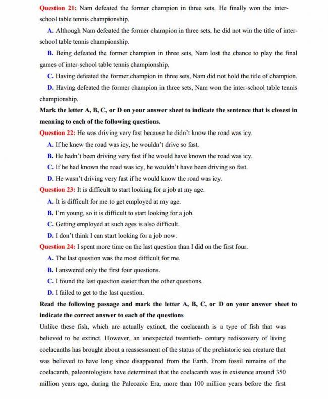 Đề thi thử môn Anh thptqg năm 2018 trường THPT chuyên Chu Văn An Lạng Sơn trang 3