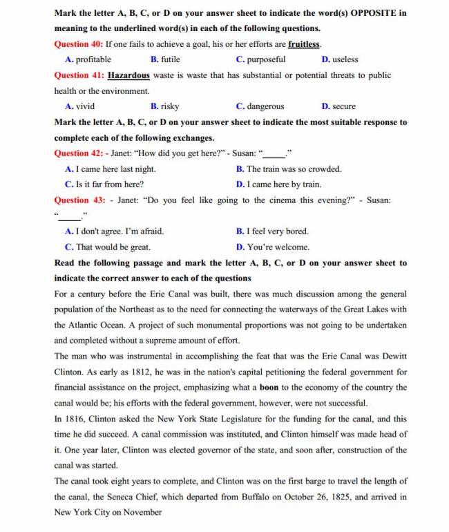 Đề thi thử môn Anh thptqg năm 2018 trường THPT chuyên Chu Văn An Lạng Sơn trang 6