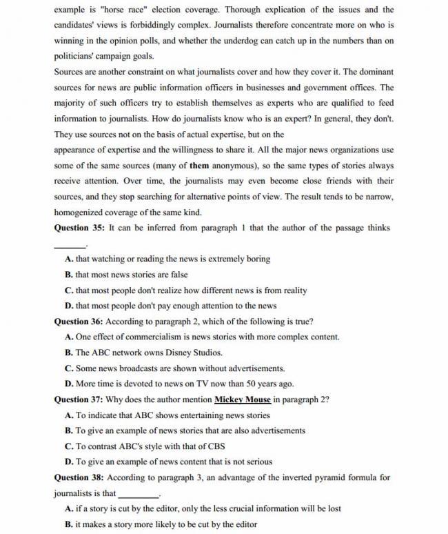 Đề thi thử môn Anh thptqg năm 2018 trường THPT chuyên DH Sư Phạm Hà Nội trang 6