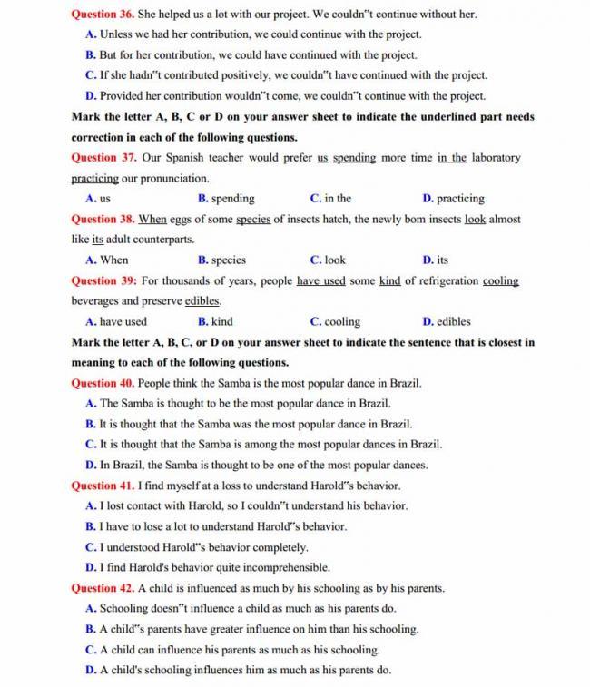 Đề thi thử môn Anh thptqg năm 2018 trường THPT chuyên Lê Khiết Quảng Ngãi trang 5