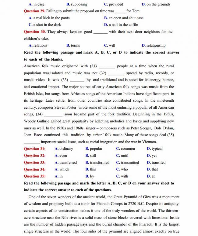 Đề thi thử môn Anh thptqg năm 2018 trường THPT chuyên Lê Quý Đôn Điện Biên trang 4