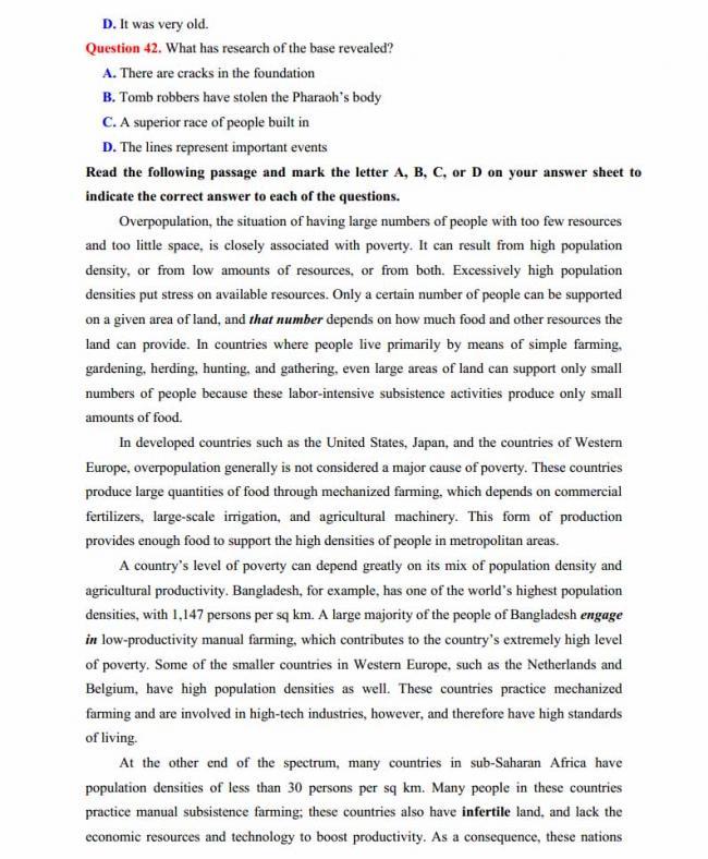 Đề thi thử môn Anh thptqg năm 2018 trường THPT chuyên Lê Quý Đôn Điện Biên trang 6