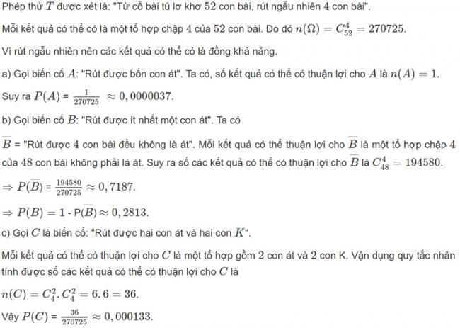 Đáp án bài 5 trang 74 SGK toán đại số và giải tích lớp 11