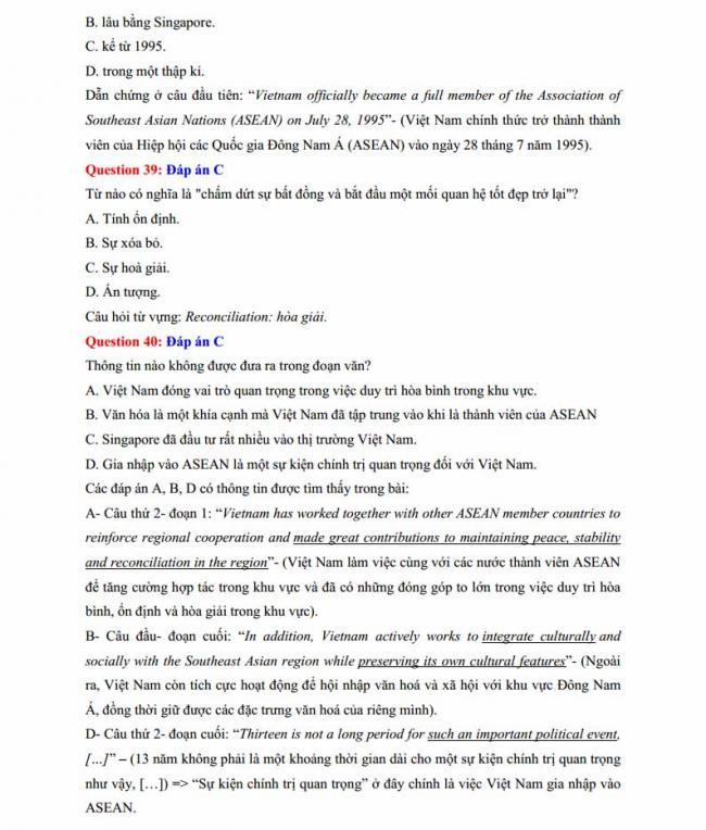 Đáp án đề thi thử môn Anh thptqg năm 2018 trường THPT Lương Phú - Thái Nguyên trang 8