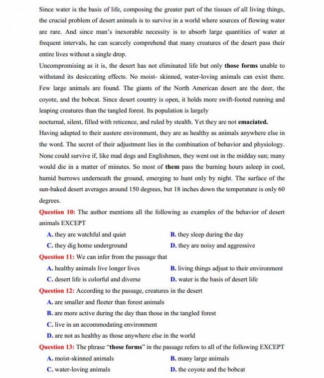 Đề thi thử môn Anh thptqg năm 2018 trường THPT chuyên Phan Ngọc Hiển Cà Mau trang 2