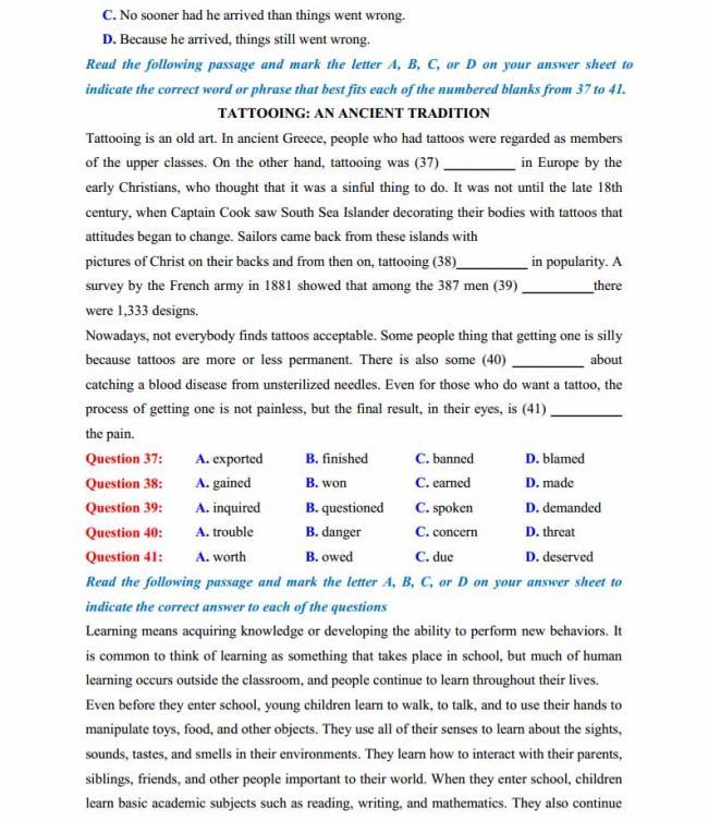 Đề thi thử môn Anh thptqg năm 2018 trường THPT chuyên Phan Ngọc Hiển Cà Mau trang 5