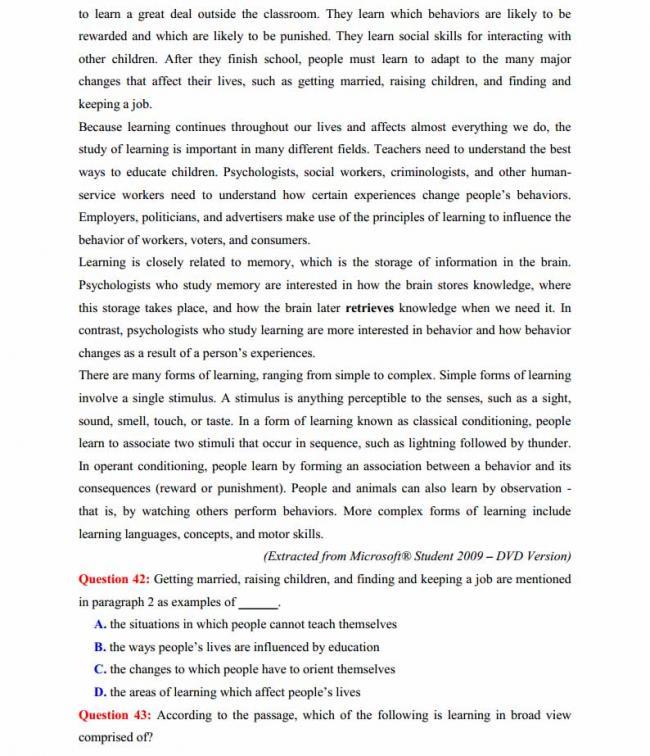 Đề thi thử môn Anh thptqg năm 2018 trường THPT chuyên Phan Ngọc Hiển Cà Mau trang 6