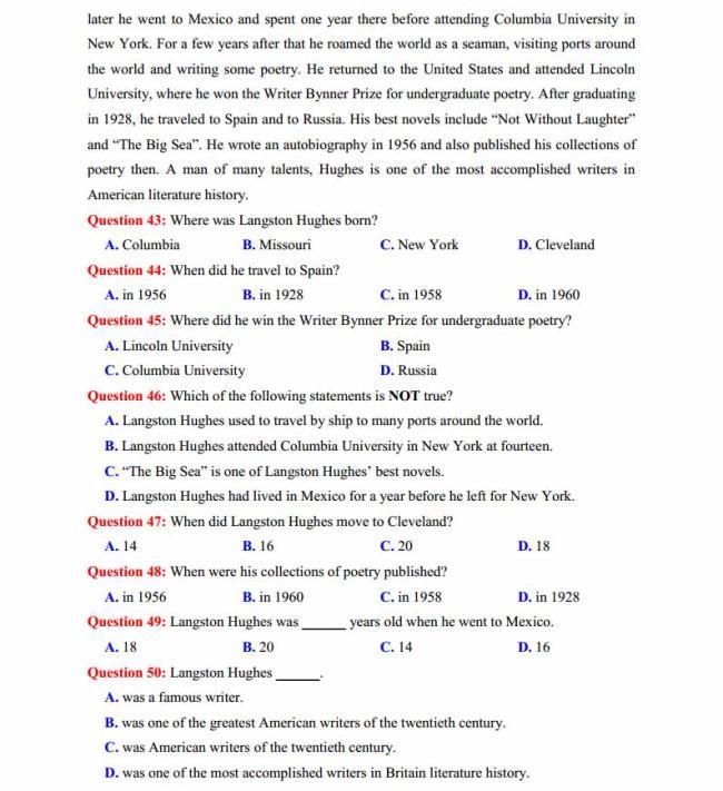 Đề thi thử môn Anh thptqg năm 2018 trường THPT Lương Phú - Thái Nguyên trang 6