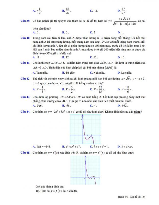 Đề thi thử môn Toán thptqg năm 2018 trường Chuyên Trần Phú - Hải Phòng lần 2 trang 6