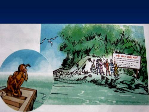 Hướng dẫn soạn bài tập đọc Nội quy đảo khỉ SGK Tiếng Việt 2 tập 2