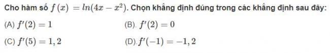 Câu hỏi bài 3 trang 91 sgk giải tích lớp 12