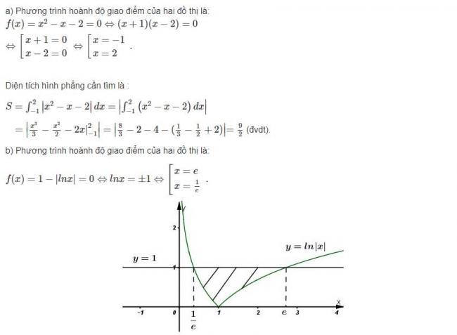 Đáp án bài 1 trang 121 sgk giải tích lớp 12 phần 1