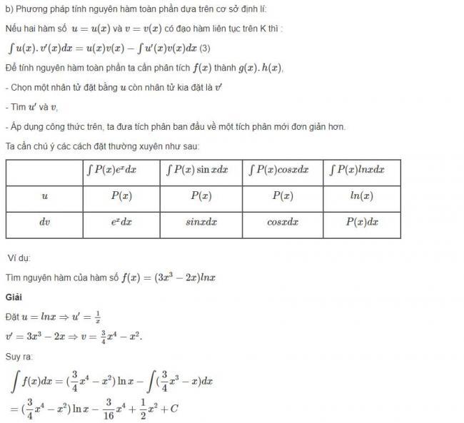 Đáp án bài 1 trang 126 sgk giải tích lớp 12