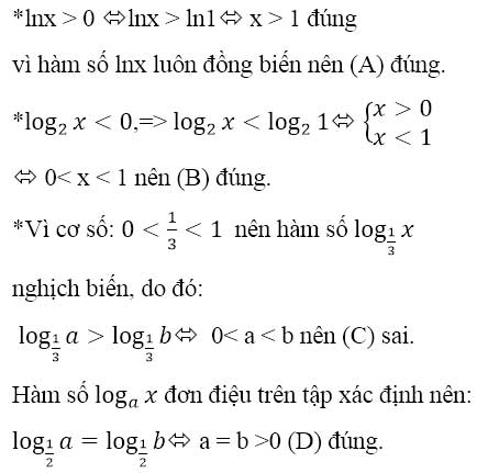 Đáp án bài 2 trang 91 sgk giải tích lớp 12