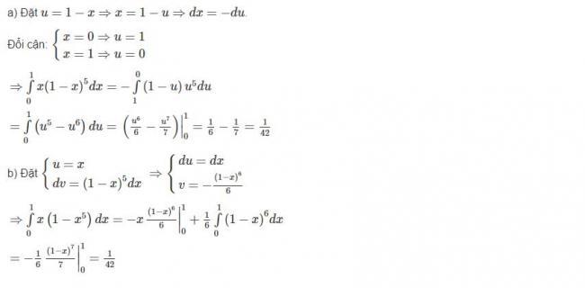 Đáp án bài 6 trang 113 sgk giải tích lớp 12