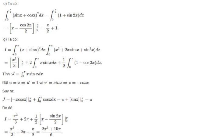 Đáp án bài 6 trang 127 sgk giải tích lớp 12 phần