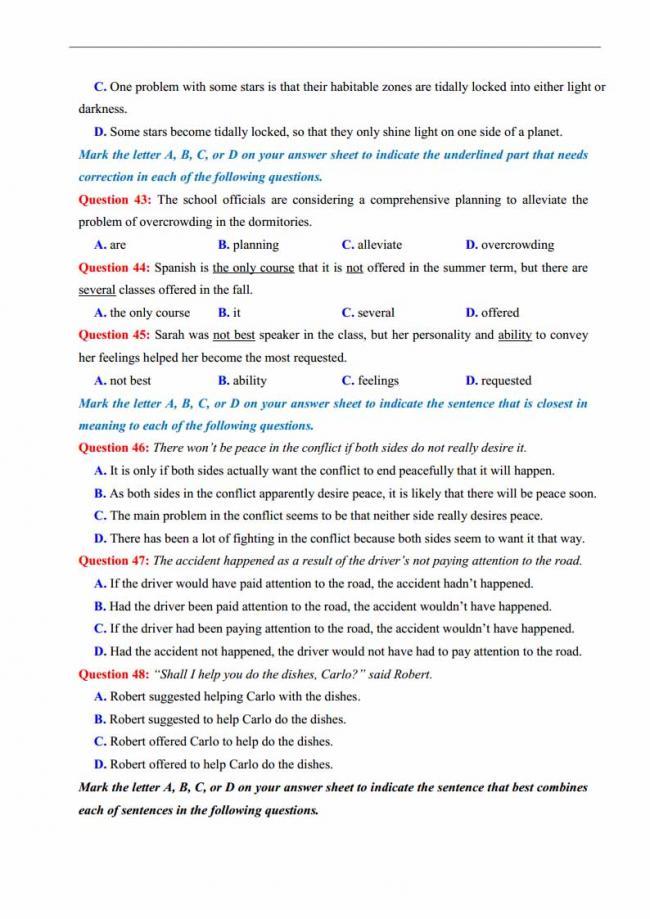 Đề thi thử môn Anh thptqg năm 2018 trường THPT chuyên DH Sư Phạm Hà Nội trang 7