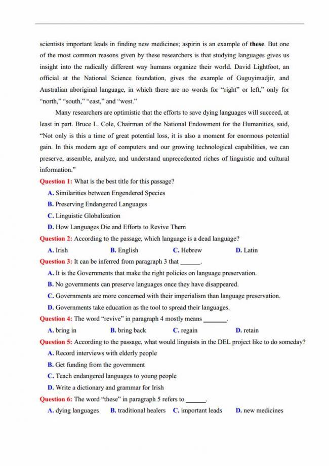 Đề thi thử môn Anh thptqg năm 2018 trường THPT chuyên KHTN Hà Nội trang 2