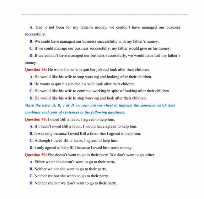 Đề thi thử môn Anh thptqg năm 2018 trường THPT chuyên Lê Quý Đôn Điện Biên trang 7